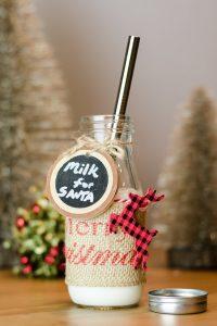 Santa Milk Jar