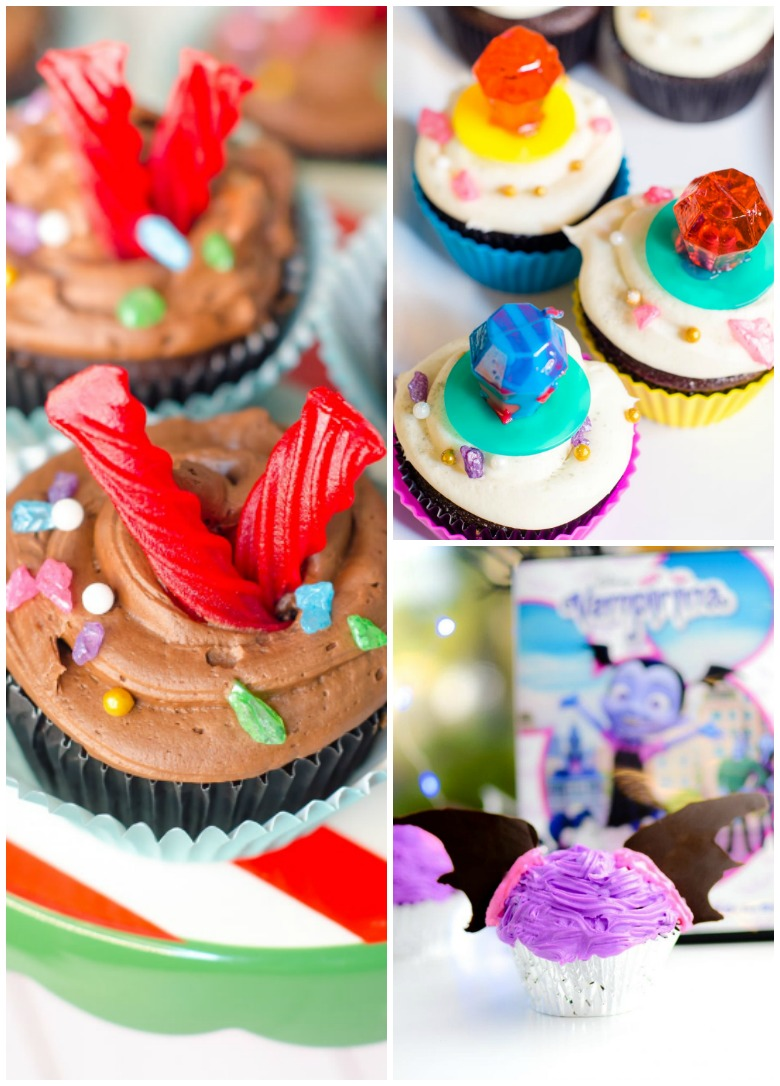 Easy Disney Cupcakes roundup. Make Disney Cupcakes at home without much trouble. #disney #cupcakes