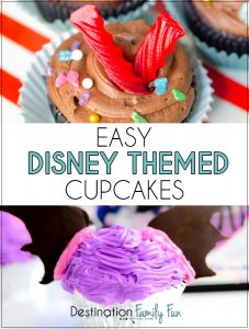 Easy Disney Themed Cupcakes