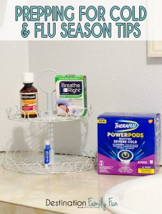 Prepping for Cold and Flu Tips. #winter #prep #homeorganization