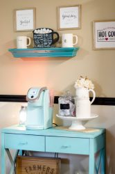 Home Coffee Bar Organization Tips to create a beautiful start to your day. #home #coffee