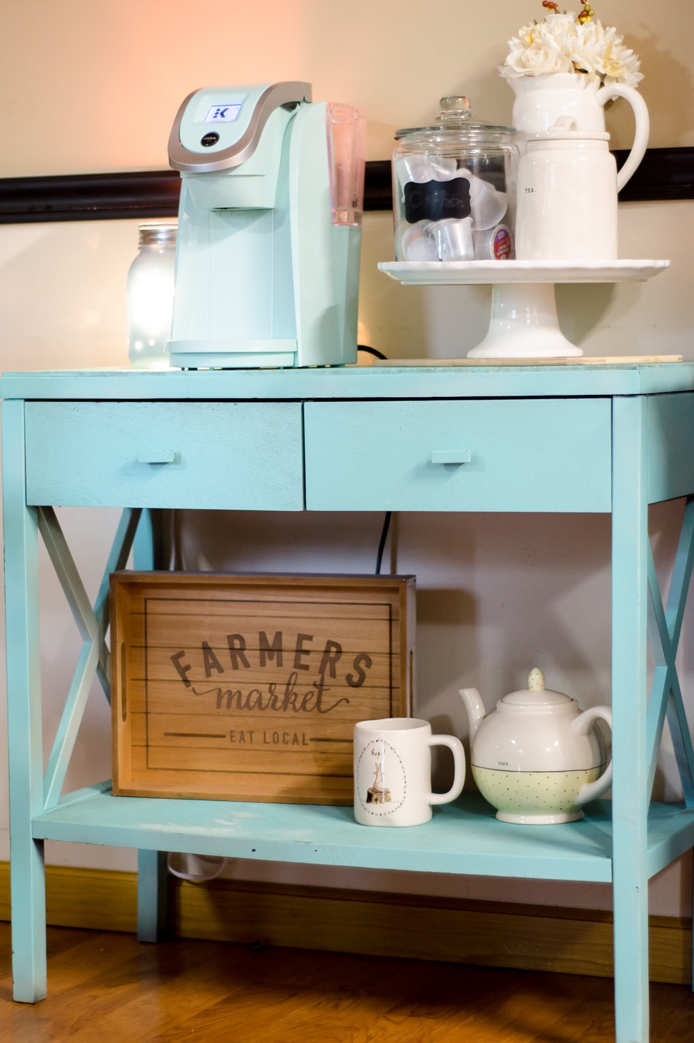 Home Coffee Bar Table Organization Tips.