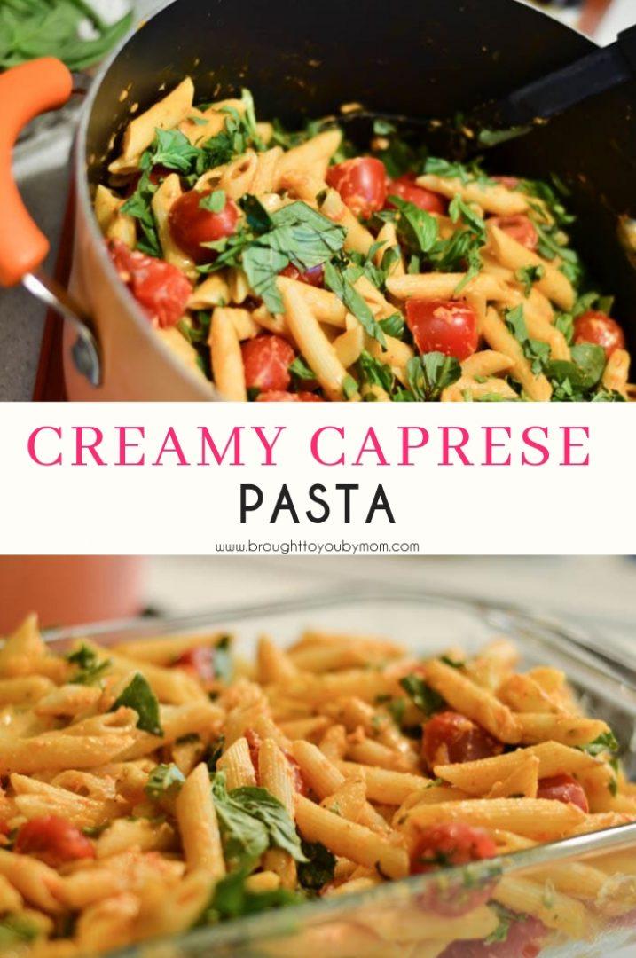 Creamy Caprese Pasta Recipe
