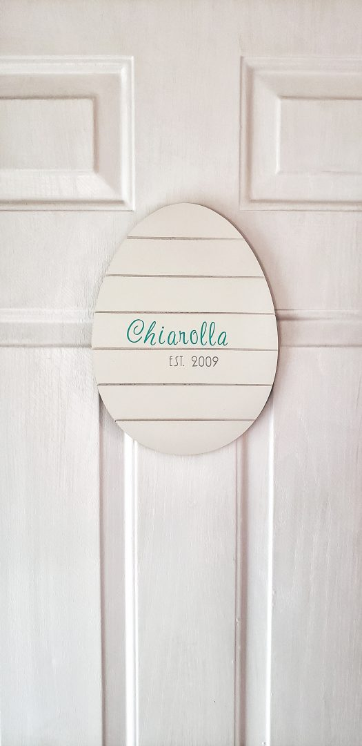Easter Door Hanger with Farmhouse style.