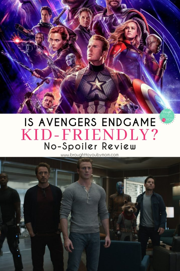Avengers Endgame Kid Friendly
