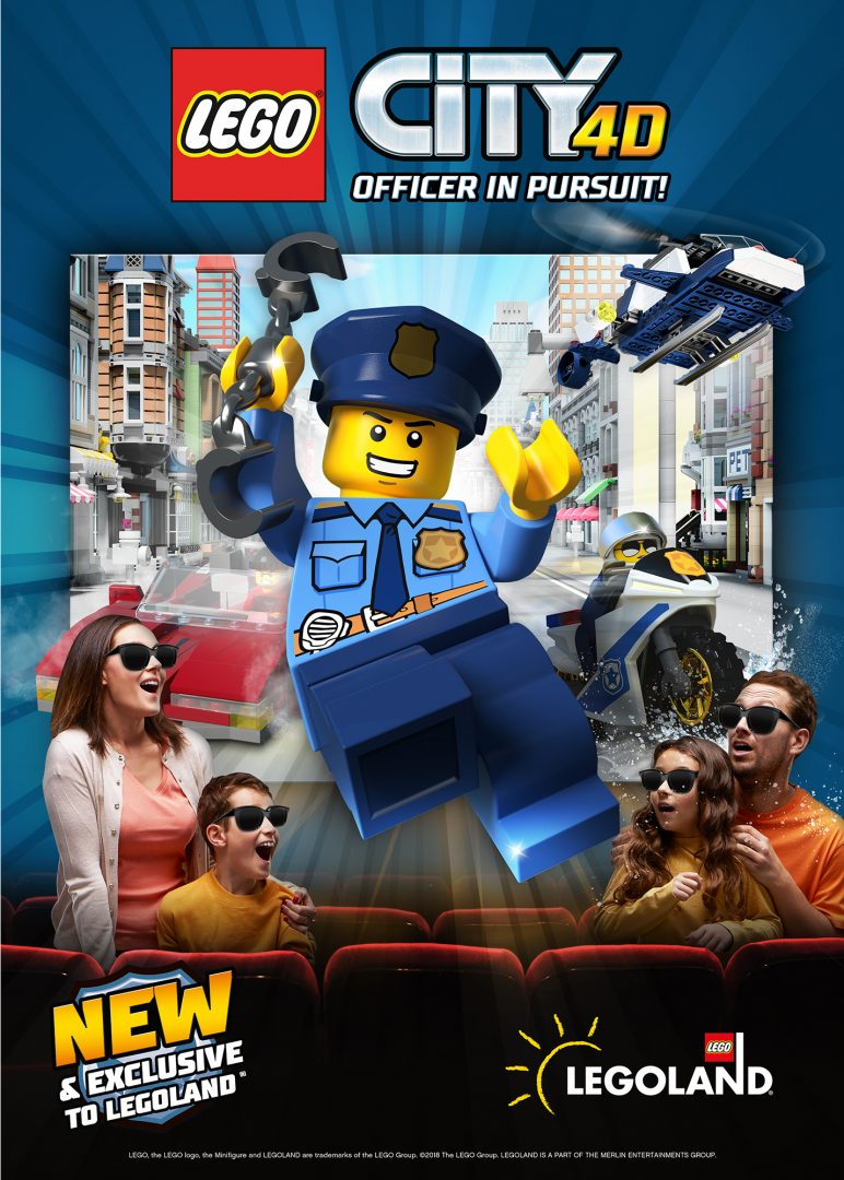 LEGO City 4D Movie Officer in Purist Poster