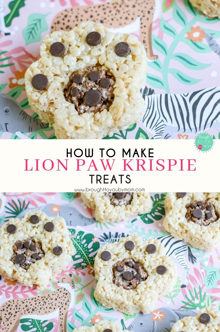 If you or your family love The Lion King, these Lion Paw Krispie Treats are going to make the perfect Lion King dessert. These make great Lion King movie treats or birthday party ideas.  #TheLionKing #Krispie