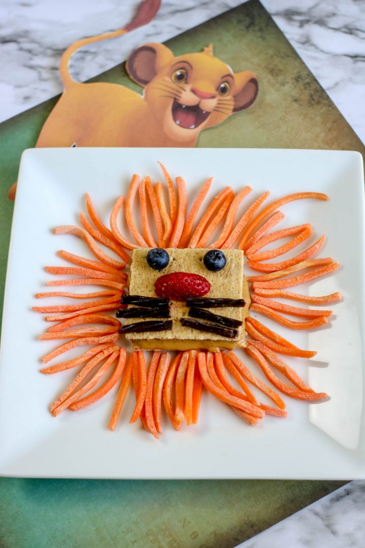 Lion Snack themed food for kids