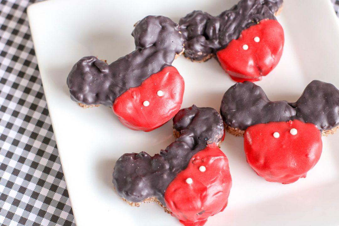 mickey mouse krispie treats on platter