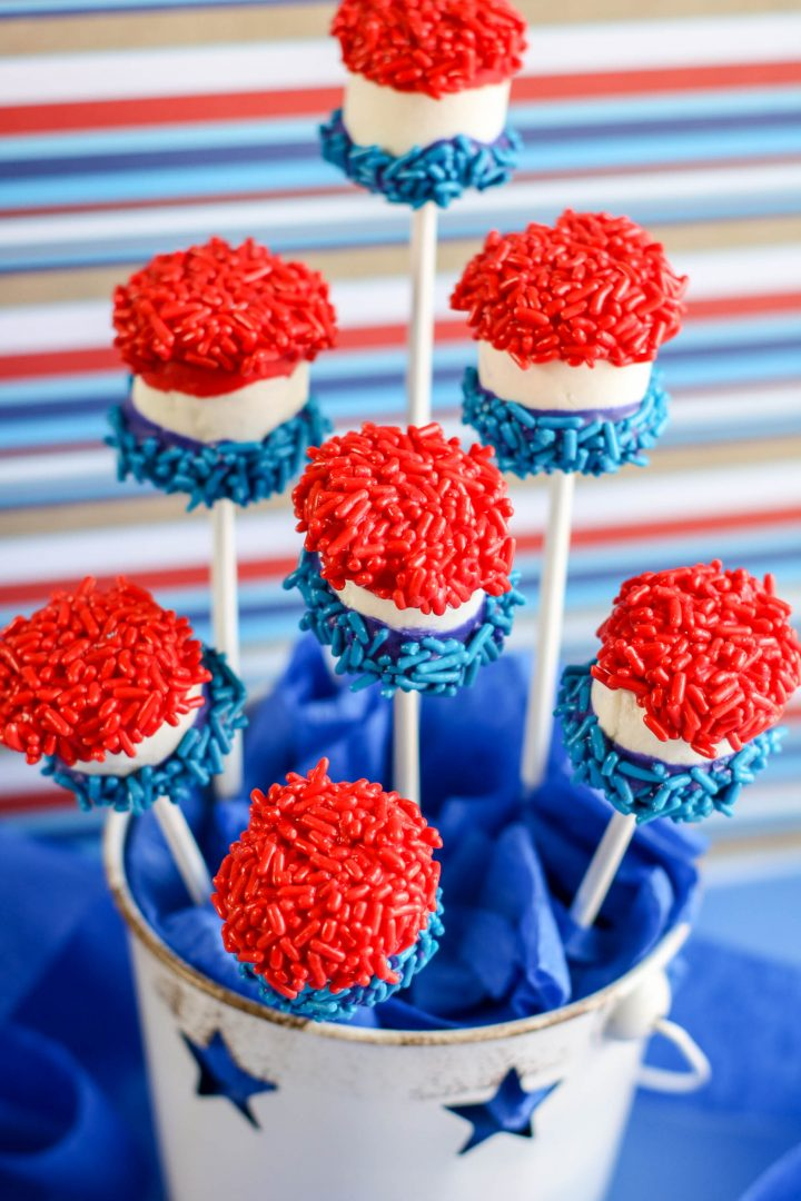 Red White and Blue Candy Pops