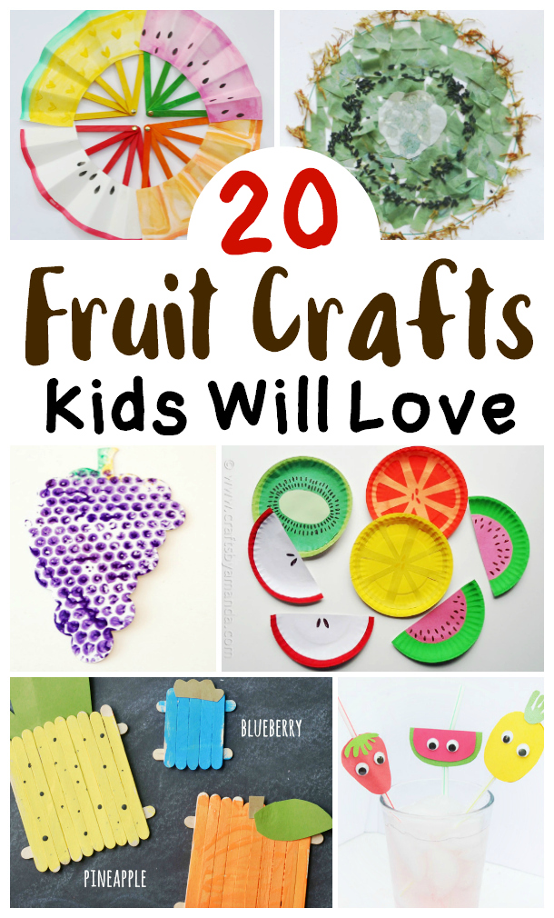 various fruit craft ideas for kids from paper grapes to paper plate watermelons