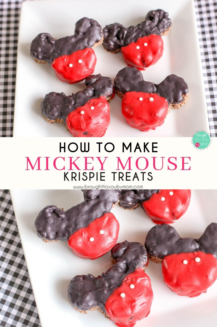 Mickey Mouse Krispie Treats are my absolute favorite sweet to enjoy at the Disney Parks. Making similar ones at home is very easy. #mickeymouse #krispietreat