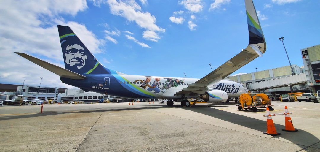 Toy Story 4 Plane Alaska Airlines