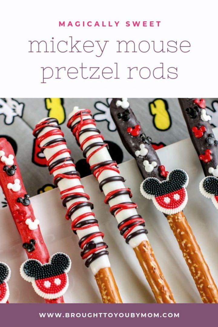 Mickey Mouse Pretzel Rod Favors