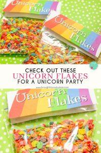 Unicorn Flakes Printable