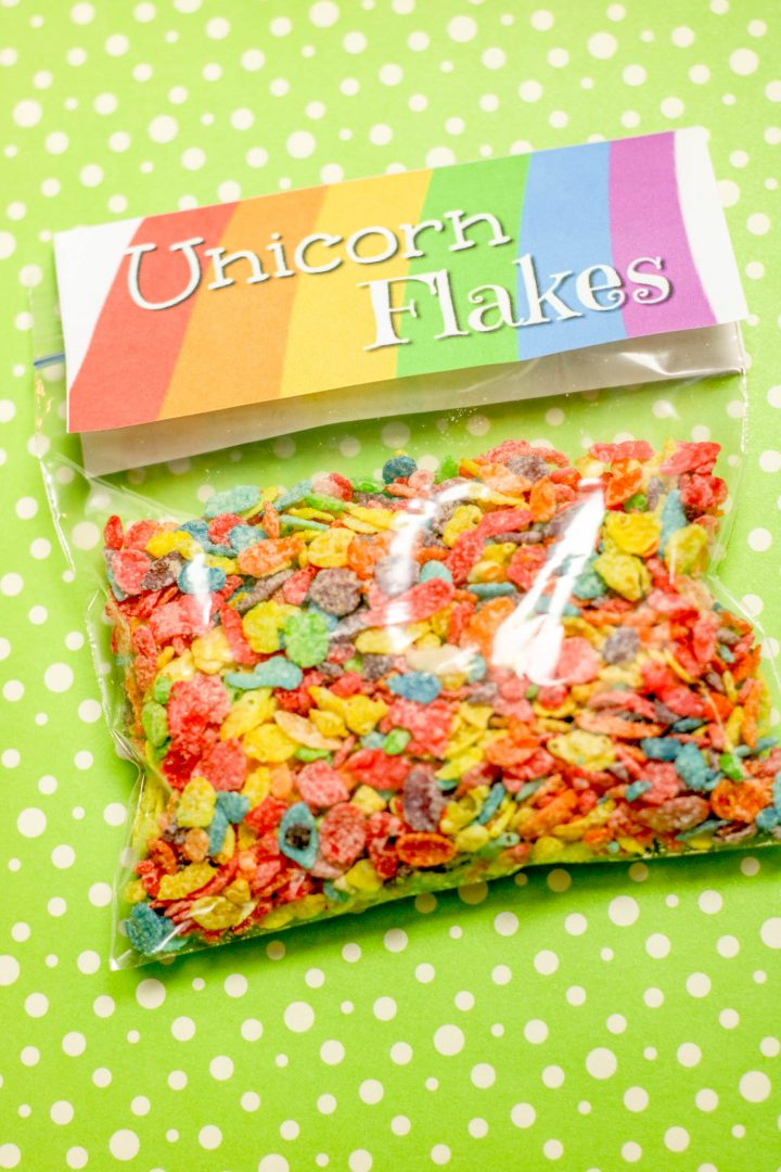 Unicorn Flakes for Party Food