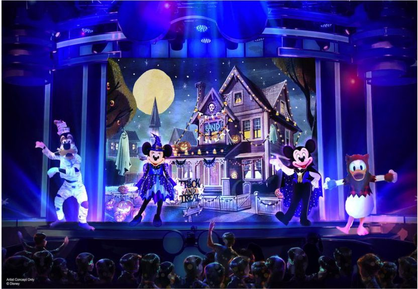 Mickey Trick and Treat Show at Oogie Boogie Bash