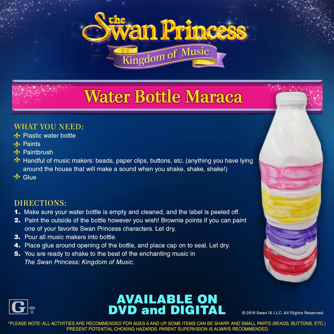 Water Bottle Maraca Craft