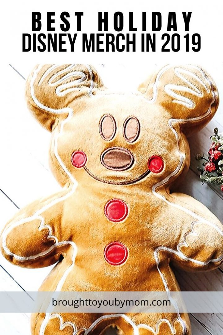 Mickey Mouse gingerbread pillow smiling