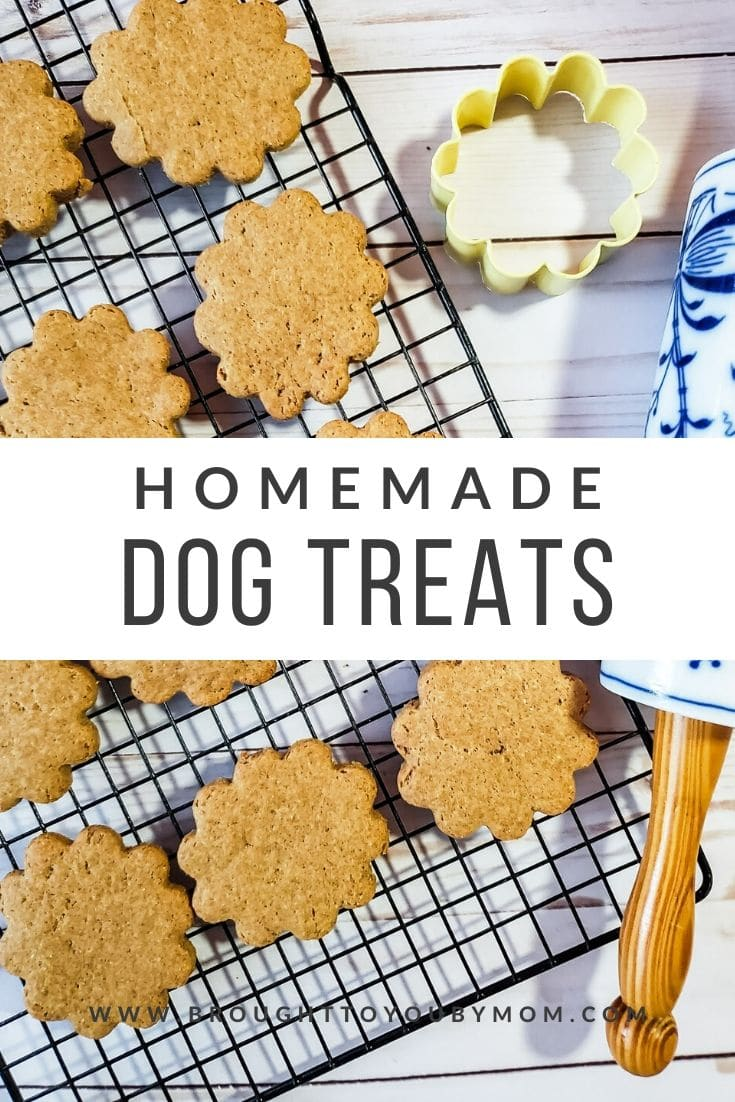 Dogs love these homemade dog biscuits! Homemade peanut butter dog treats make the perfect gift for the furry friends in your life.