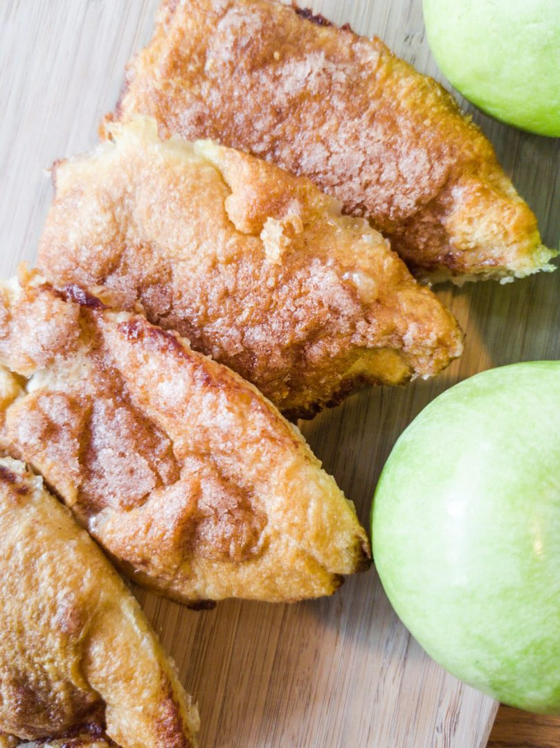 apple dumplings with green apple