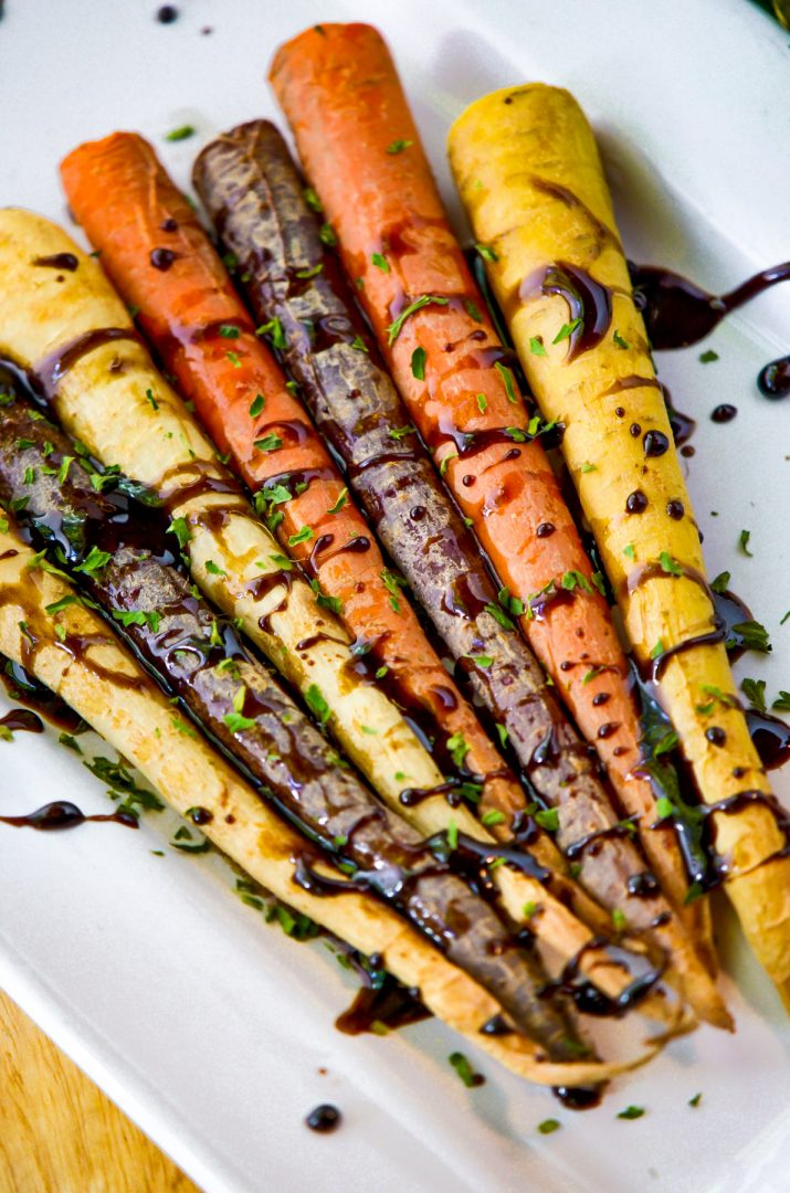 rainbow carrots with glaze
