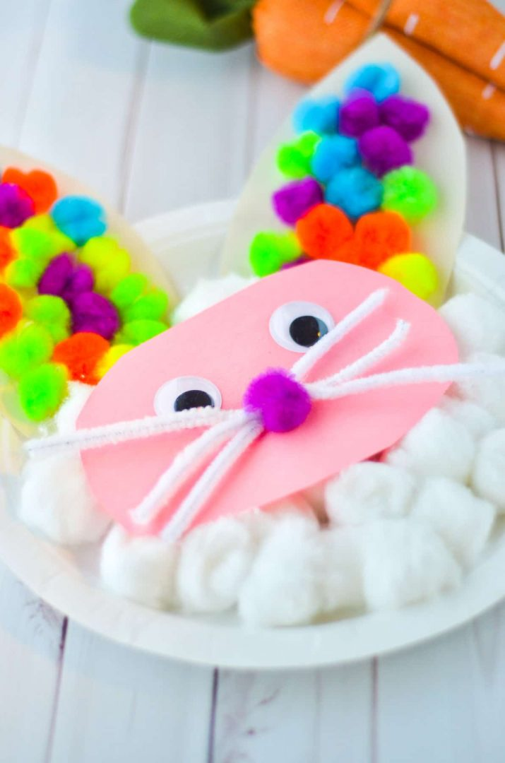 easter bunny craft with cotton balls