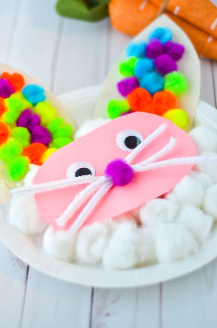 How to Make a Paper Plate Easter Bunny