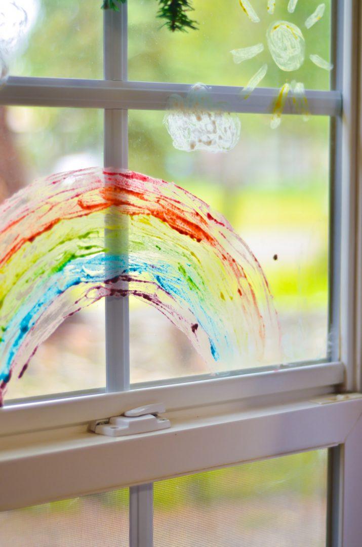 rainbow window paint