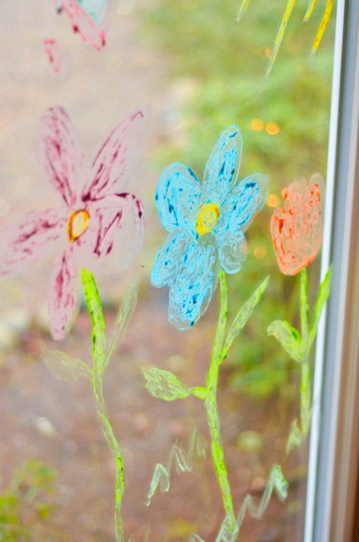 window paint flowers