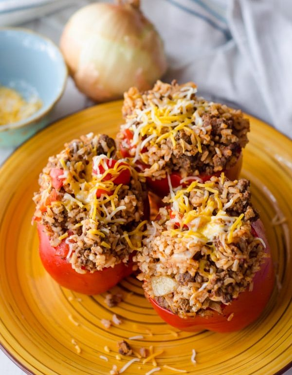 stuffed peppers with onion