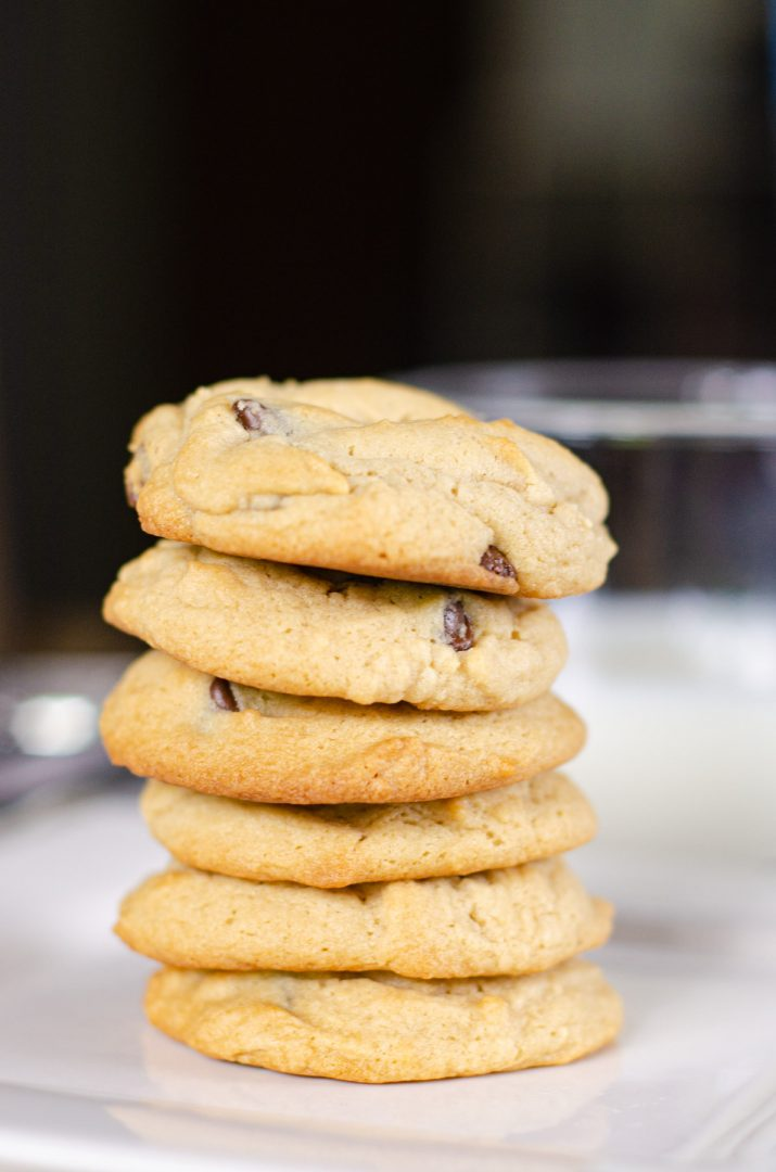 cookie stacked together on plate