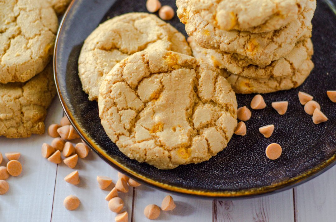 cinnamon butterscotch cookies on plate